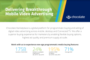 Overview of Programmatic Mobile Video on Chocolate Marketplace